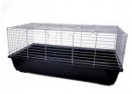 Клетка для кроликов 101.5x56x31.5 см, (Silver wire/ black base senna rotterdam rabbit cage)